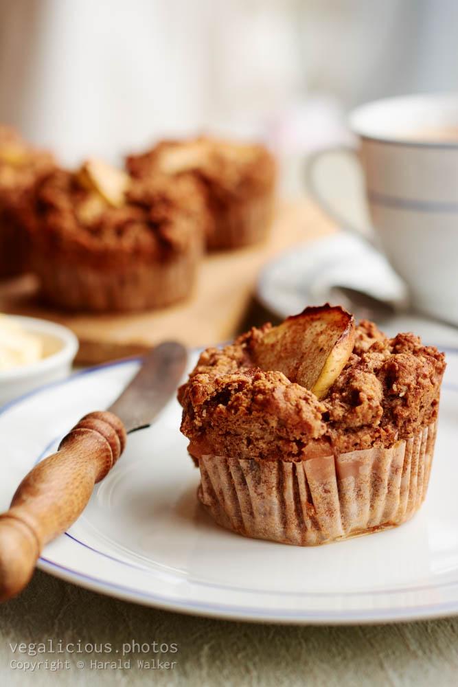 Stock photo of Buckwheat Apple Muffins