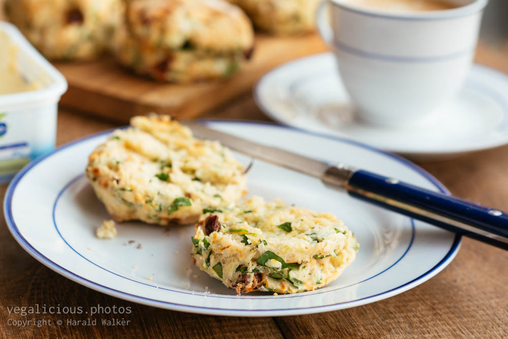 Stock photo of Spinach and Sun-dried Tomato Biscuits
