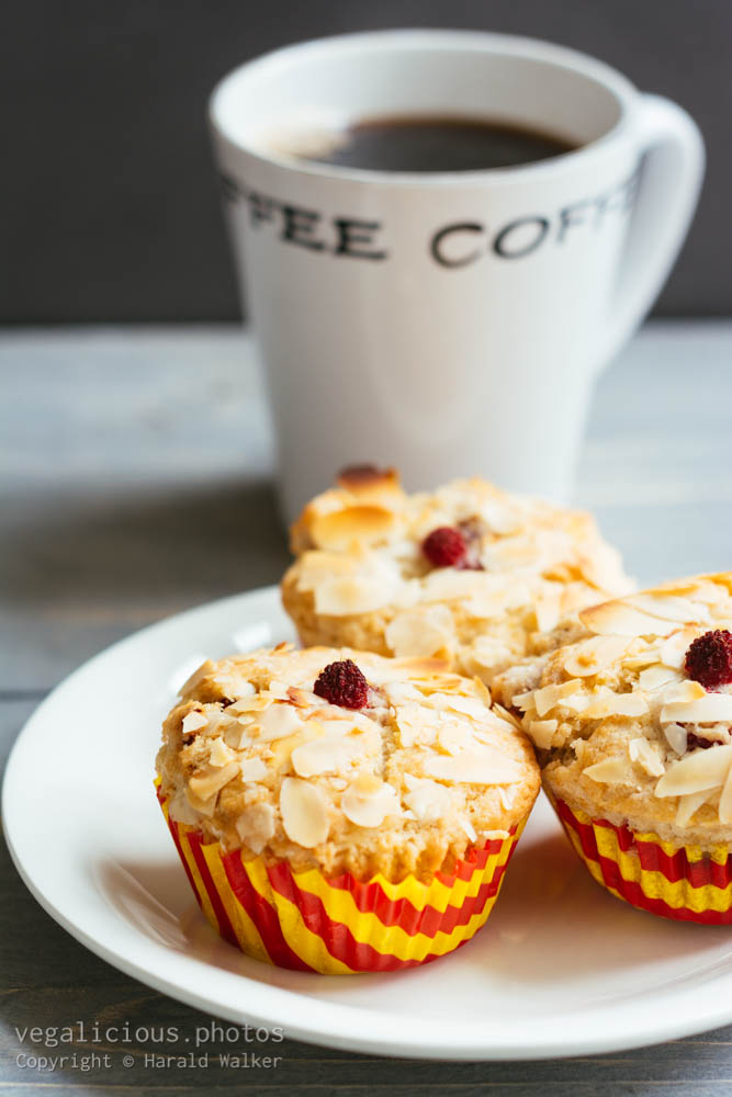 Stock photo of Almond Berry Muffins