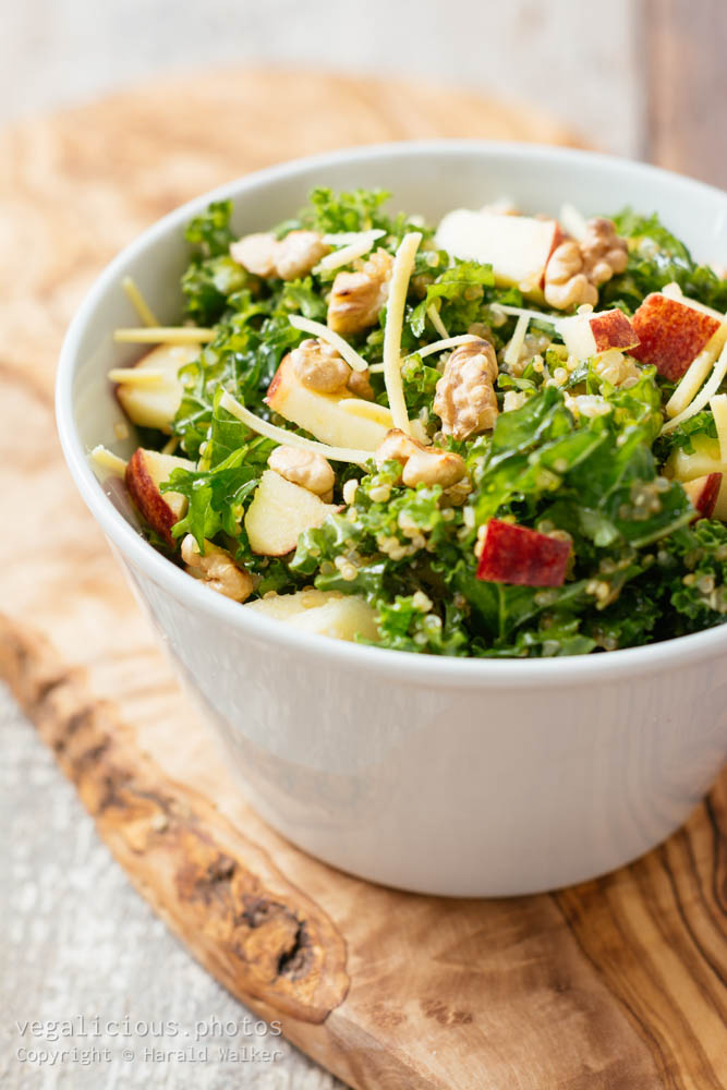 Stock photo of Kale Waldorf Salad with Quinoa