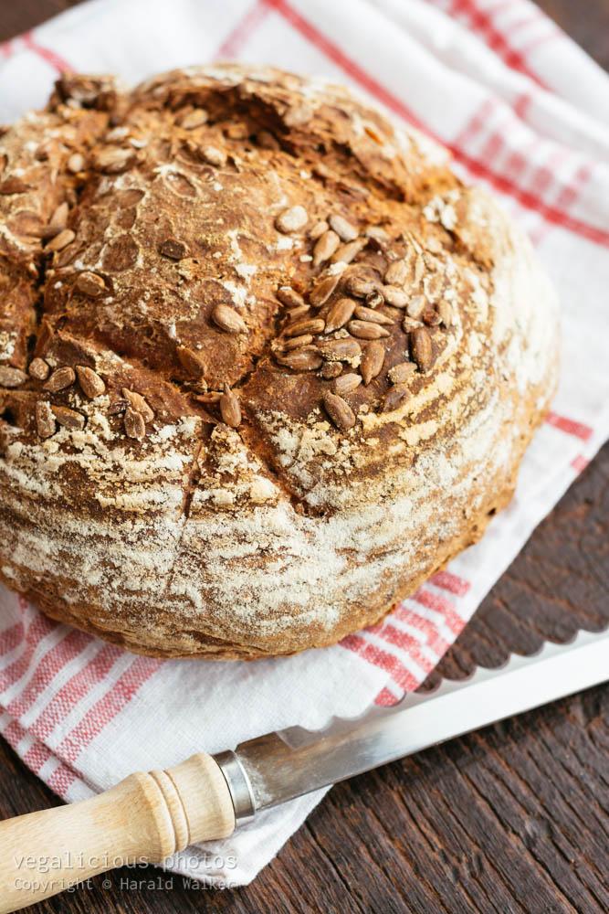 Stock photo of Homemade artesan sourdough bread