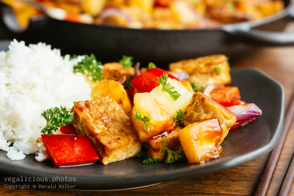 Stock photo of Sweet Sour Tempeh