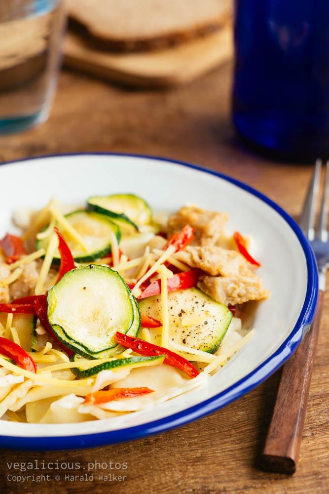 Stock photo of Tortellini with Chickun and Zucchini