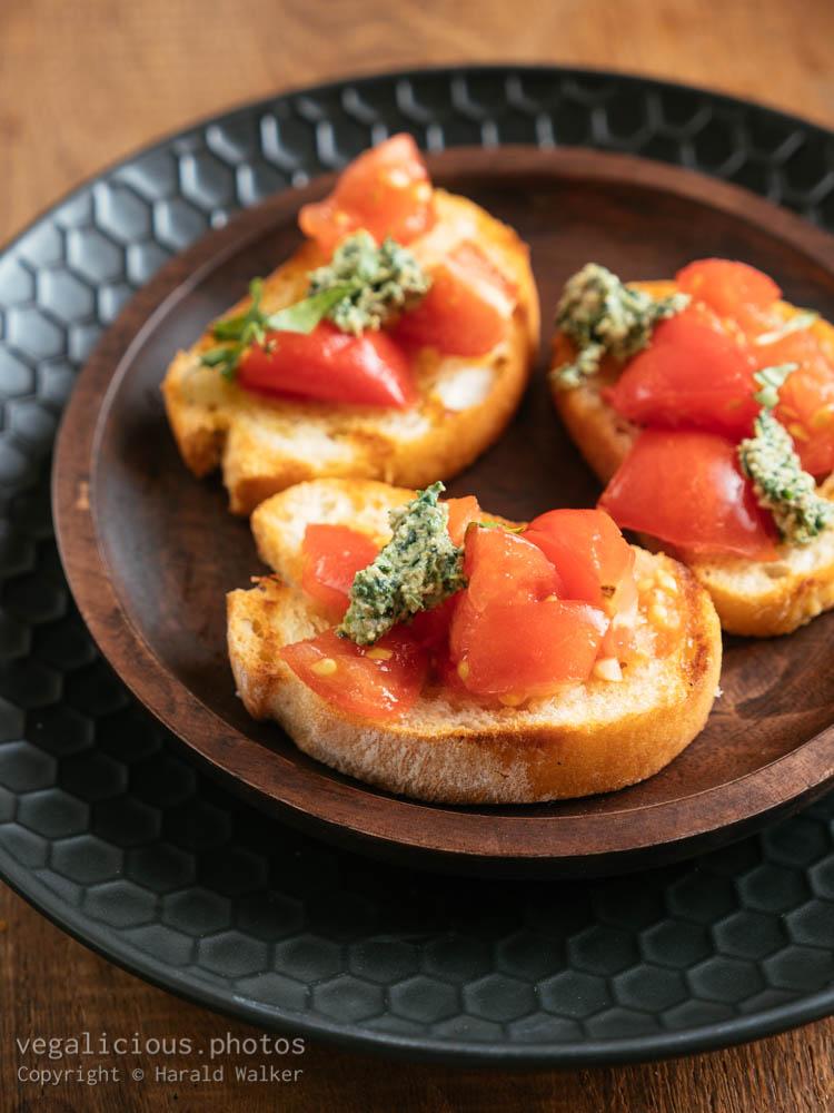 Stock photo of Traditional Tomato Bruschetta