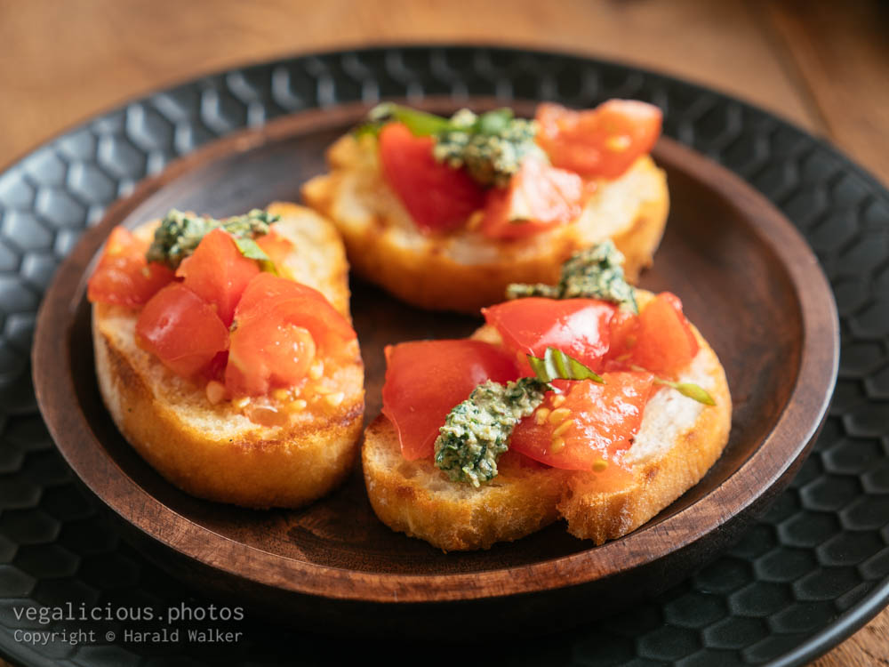 Stock photo of Traditional Tomato Bruschetta