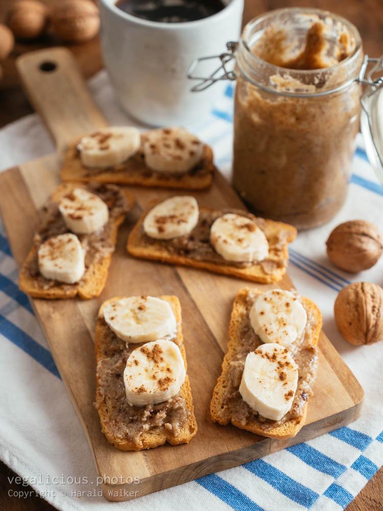 Stock photo of Banana Walnut-Butter Treats