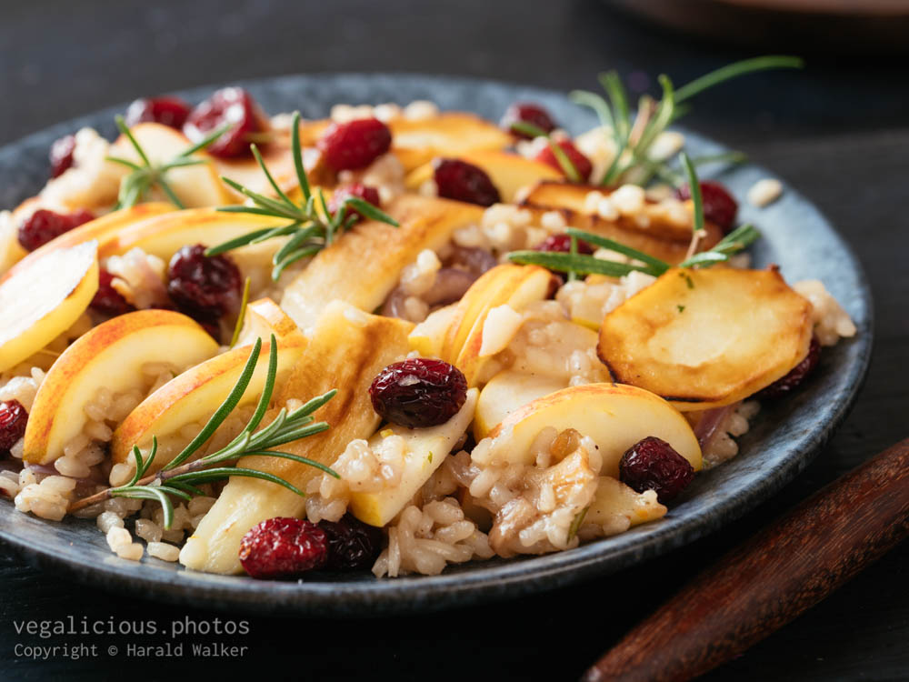 Stock photo of Parsnip, Apple Risotto