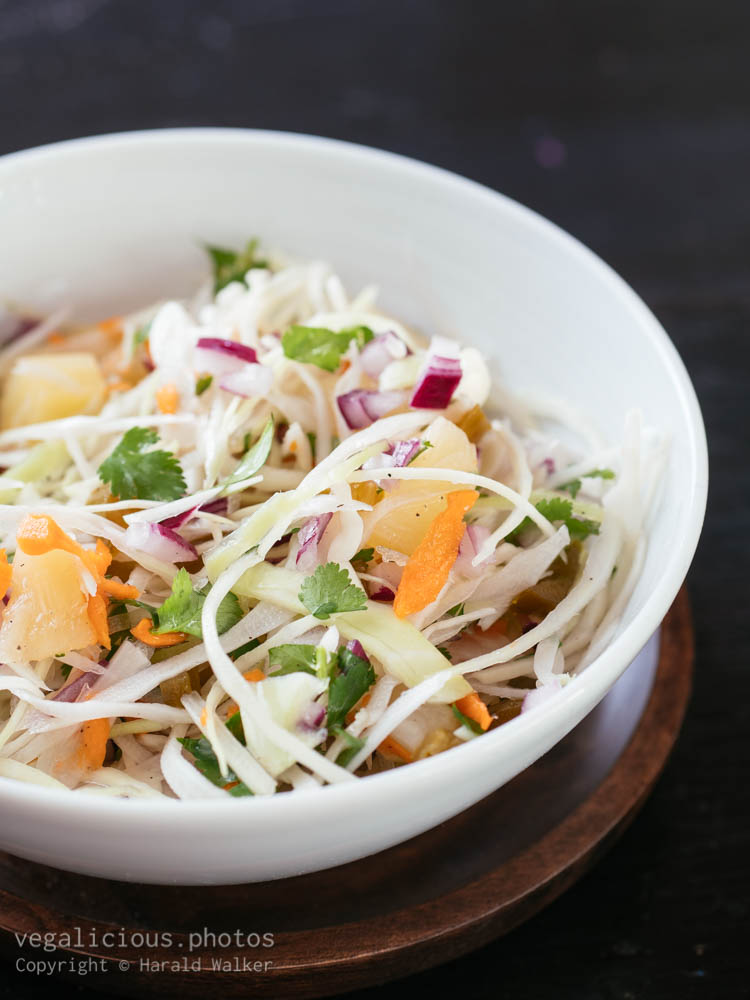 Stock photo of Pineapple, Jalapeno Coleslaw