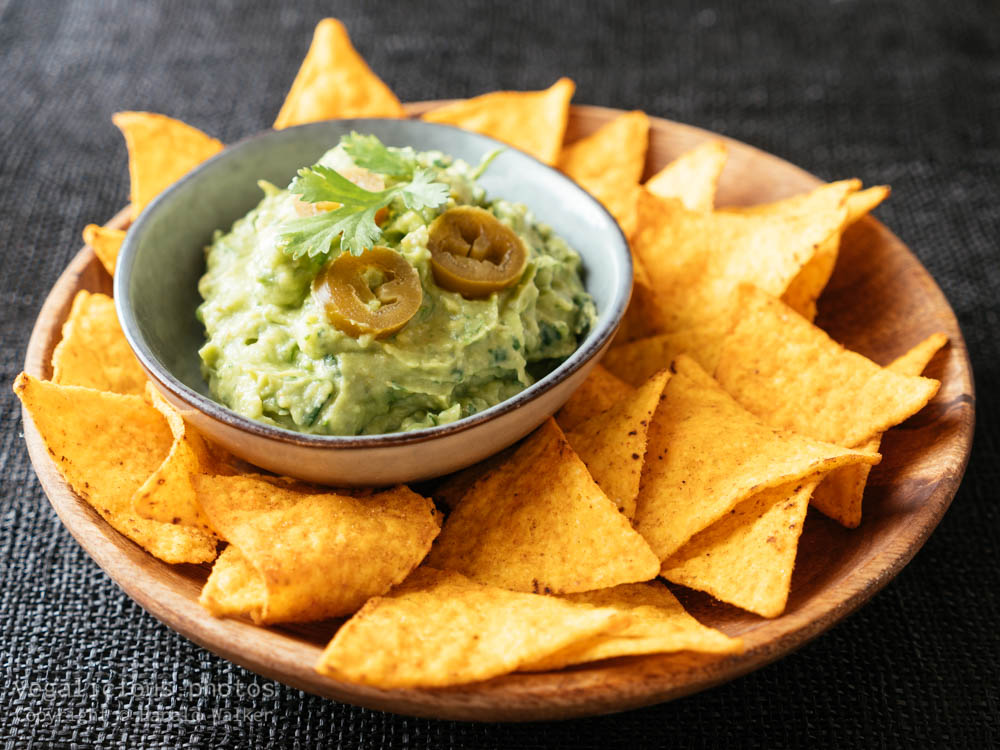 Stock photo of Guacamole with Corn Chips