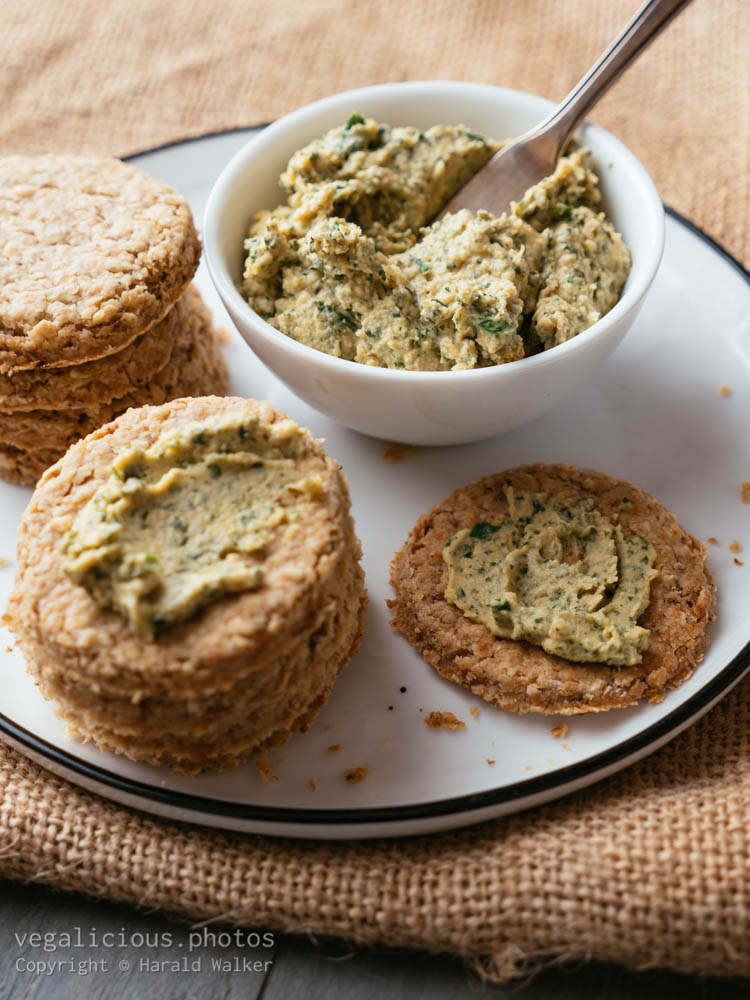 Stock photo of Oatcakes with Hummus