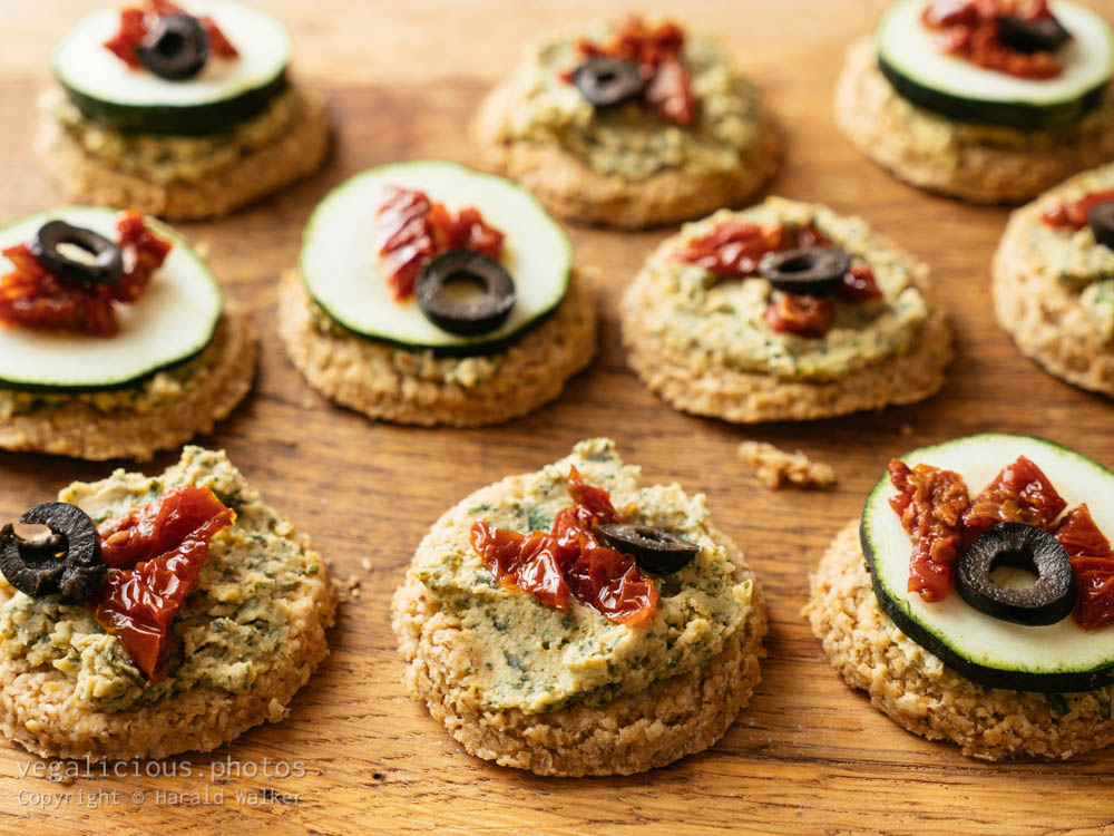 Stock photo of Oatcakes with topping