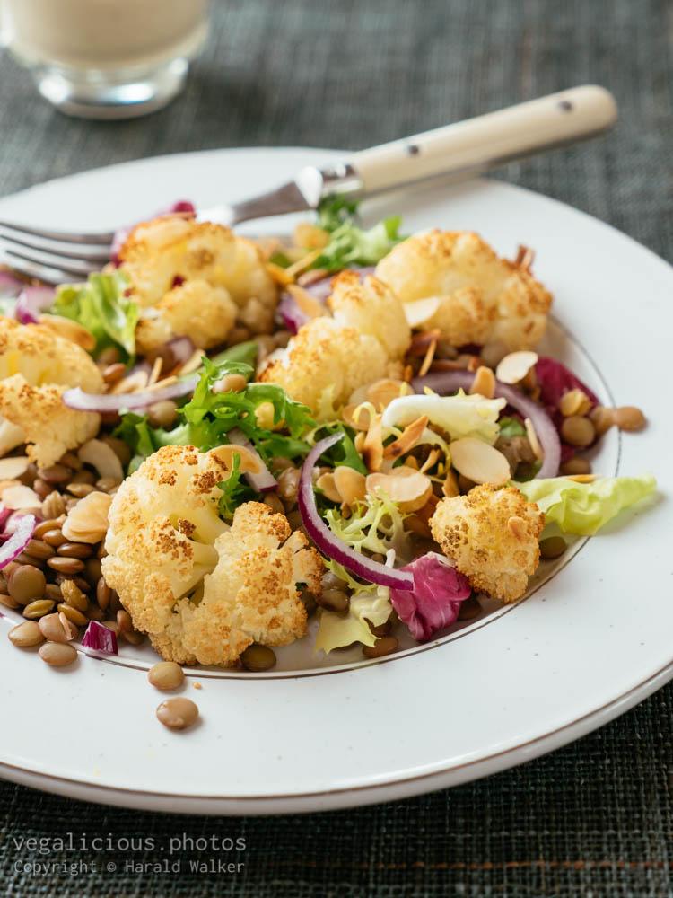 Stock photo of Lentil and Roasted Cauliflower Salad