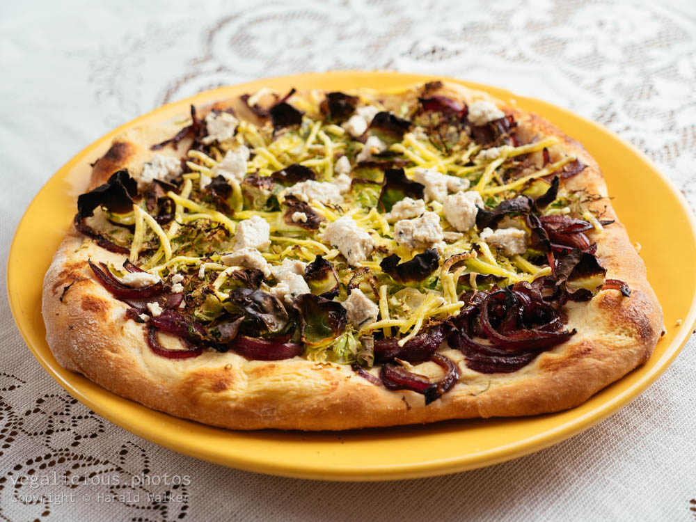 Stock photo of Brussels Sprouts Pizza