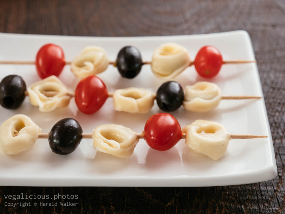 Stock photo of Tortellini Skewers