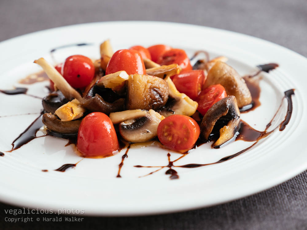 Stock photo of Sauteed Mushrooms and Tomatoes