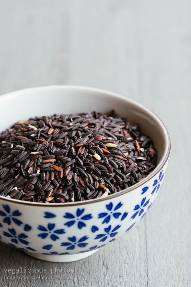 Stock photo of Black sticky rice