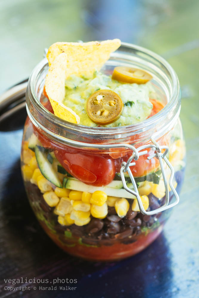 Stock photo of Mexican Salad in a Jar