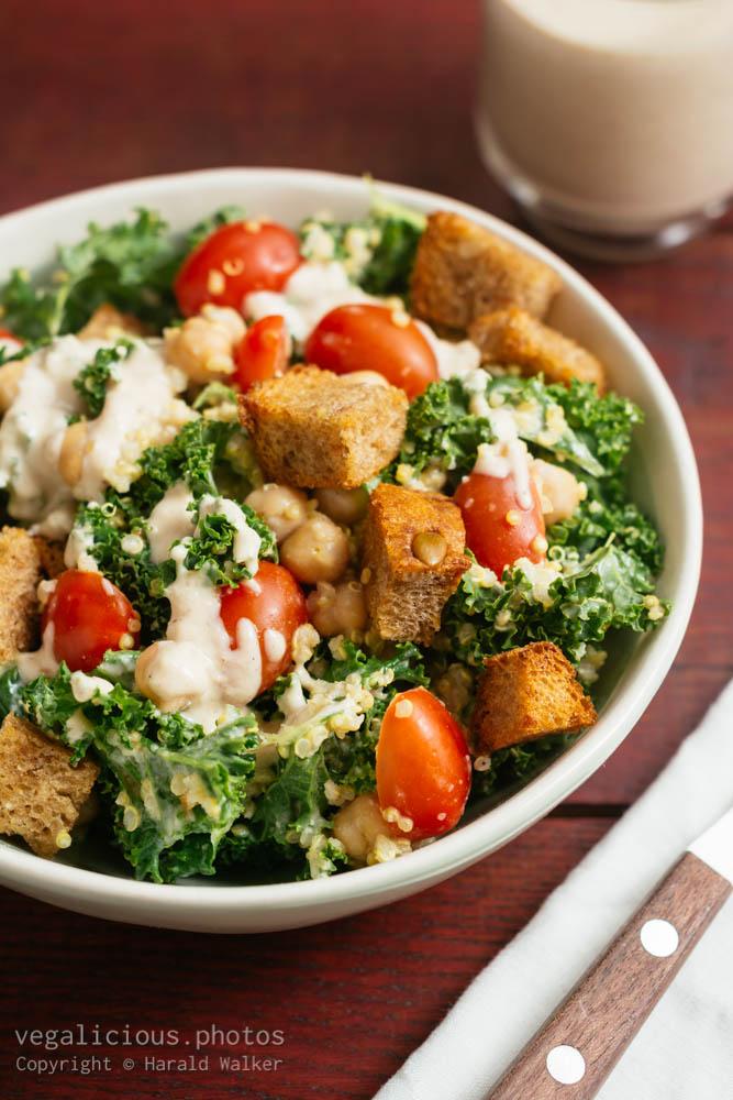 Stock photo of Kale Quinoa Caesar Salad