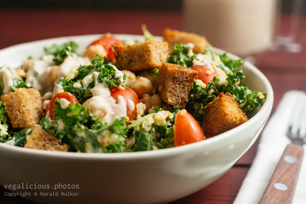 Stock photo of Kale Quinoa Caesar Salad