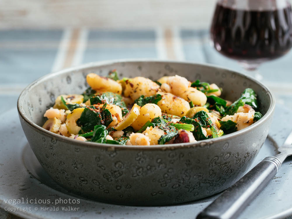 Stock photo of Toscana Gnocchi with White Beans and Spinach