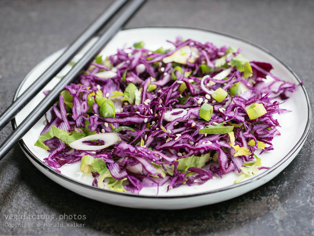 Stock photo of Asian Red Cabbage Salad