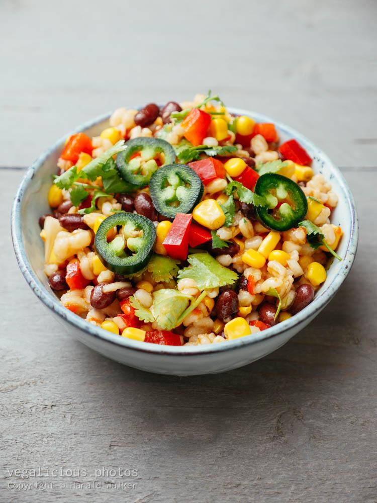 Stock photo of Southwestern Barley Salad