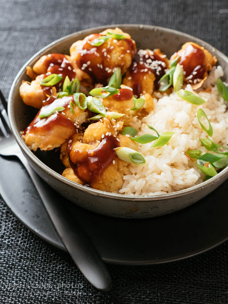 Stock photo of General Tso's Cauliflower