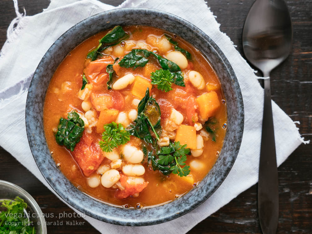 Stock photo of White Bean and Spelt Soup