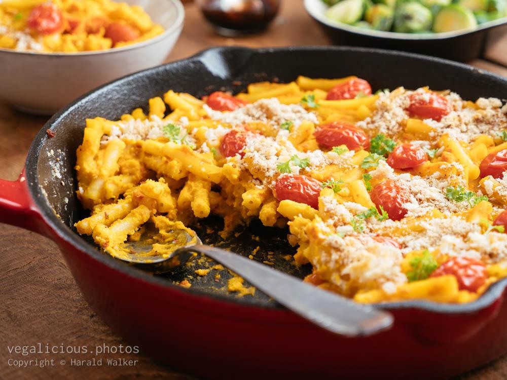 Stock photo of Vegan Pumpkin Mac and Cheese