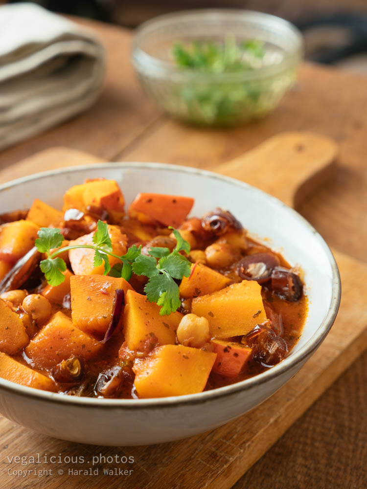 Stock photo of Winter Squash, Chickpea Tajine