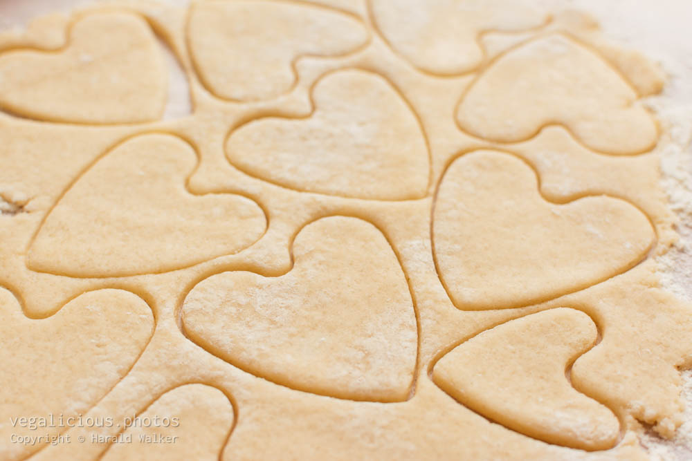 Stock photo of Heart shaped sugar cookies