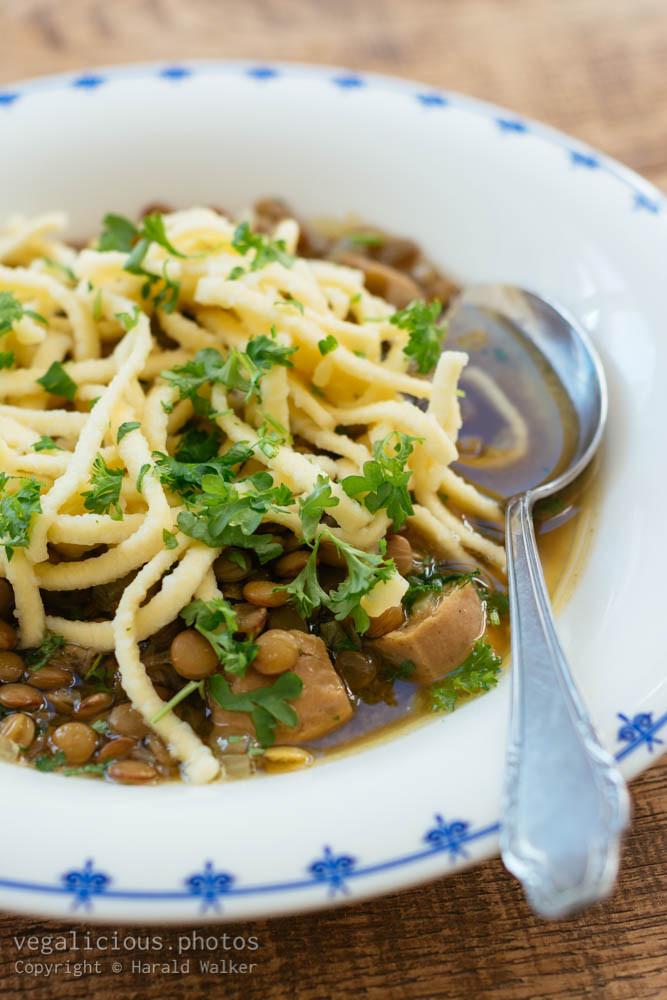 Stock photo of Lentil Soup with Spaetzle