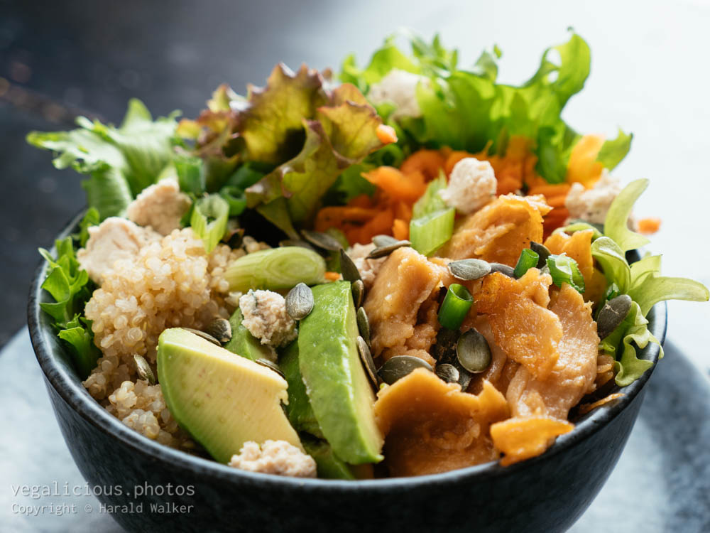 Stock photo of Vegan Chickun Bowl with Quinoa