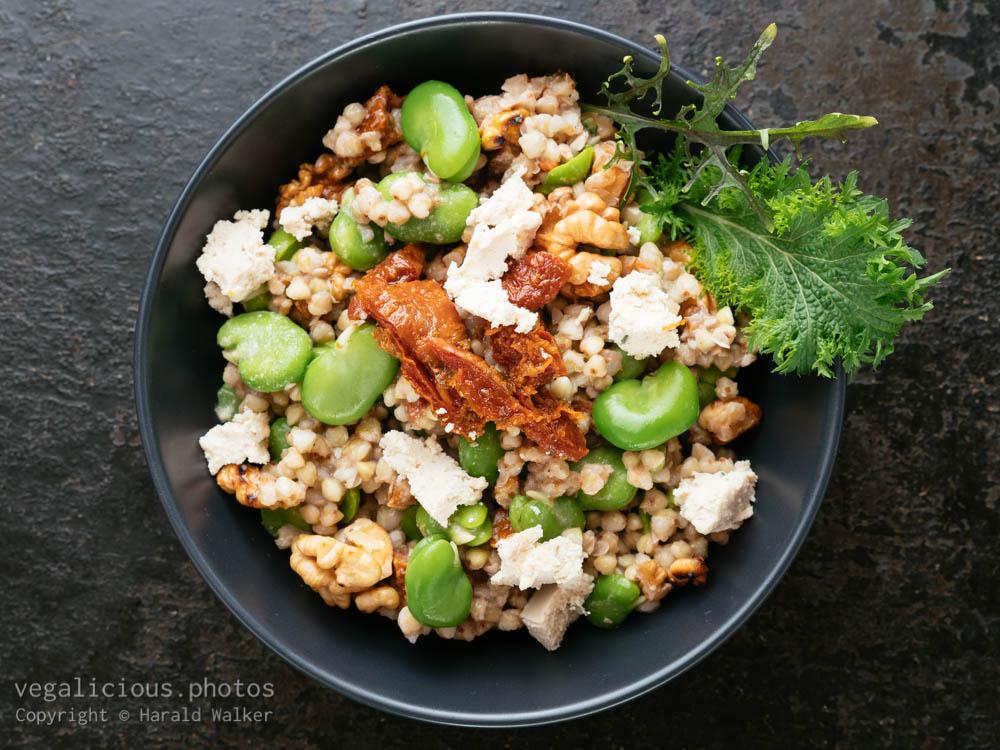 Stock photo of Buckwheat and Fava Bean Salad