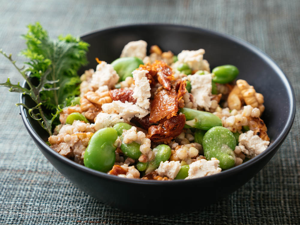 Stock photo of Buckwheat and Fava Bean Salad