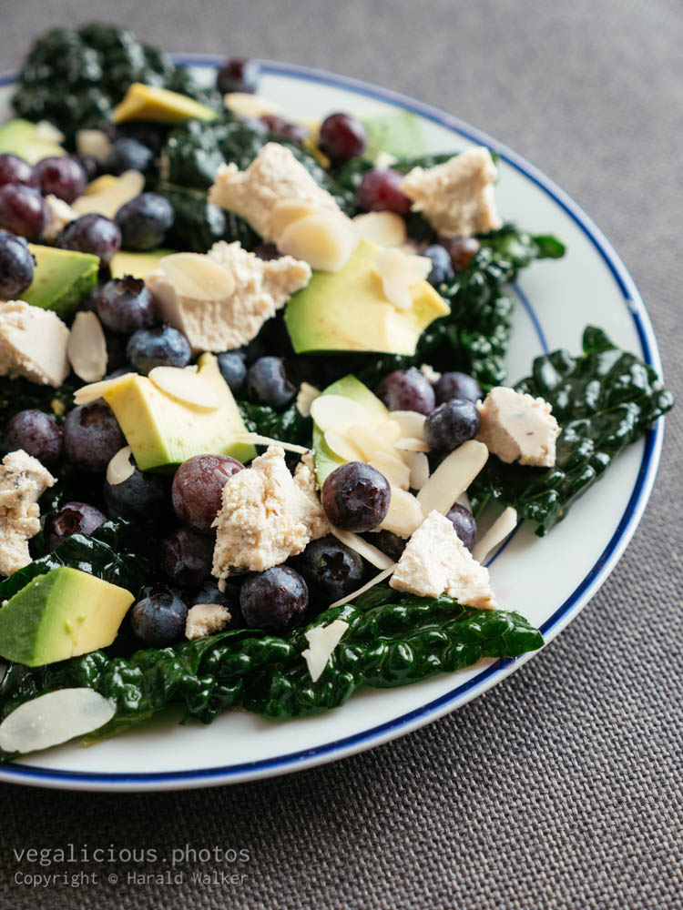 Stock photo of Blueberry and Kale Salad with Avocado