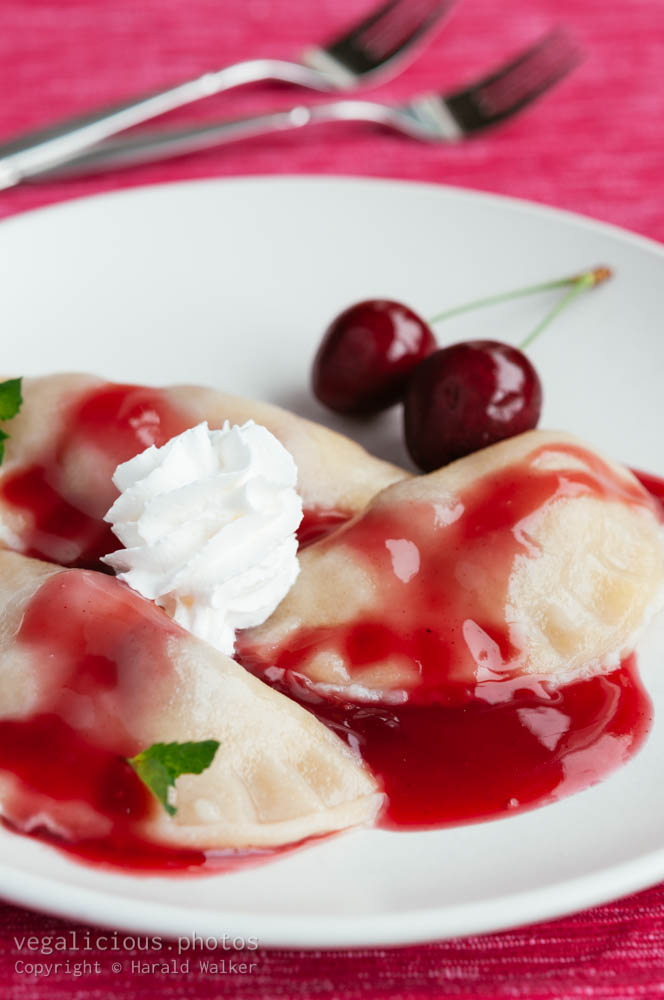 Stock photo of Sour Cherry Pierogi
