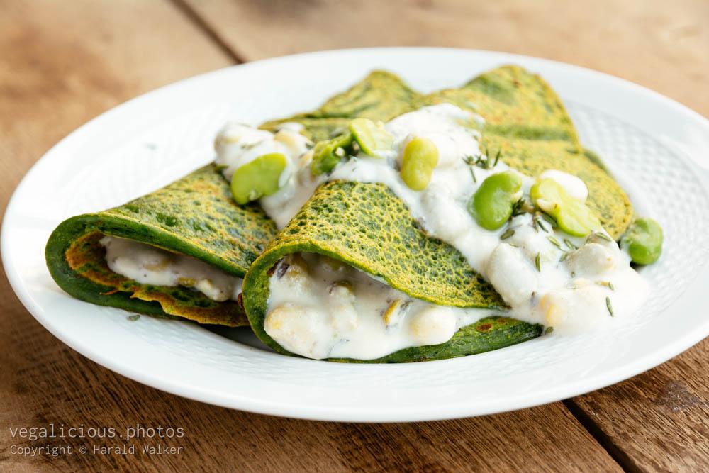 Stock photo of Green Pancakes