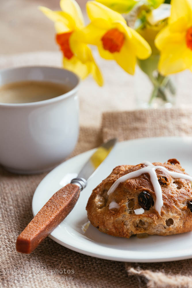 Stock photo of Hot cross buns