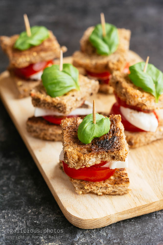 Stock photo of Caprese salad on toast