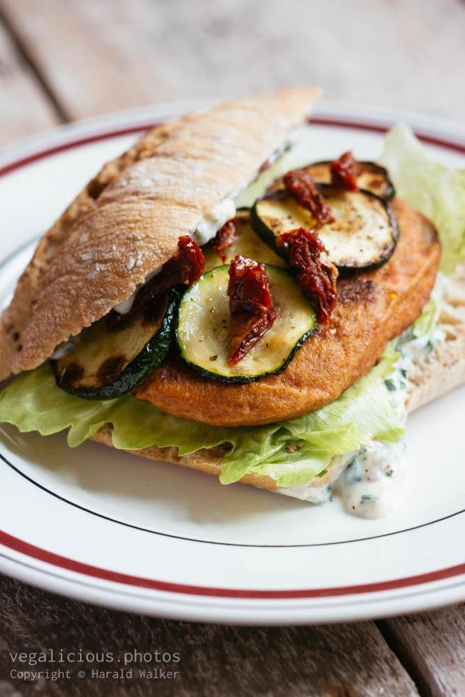 Stock photo of Tofu burger sandwich