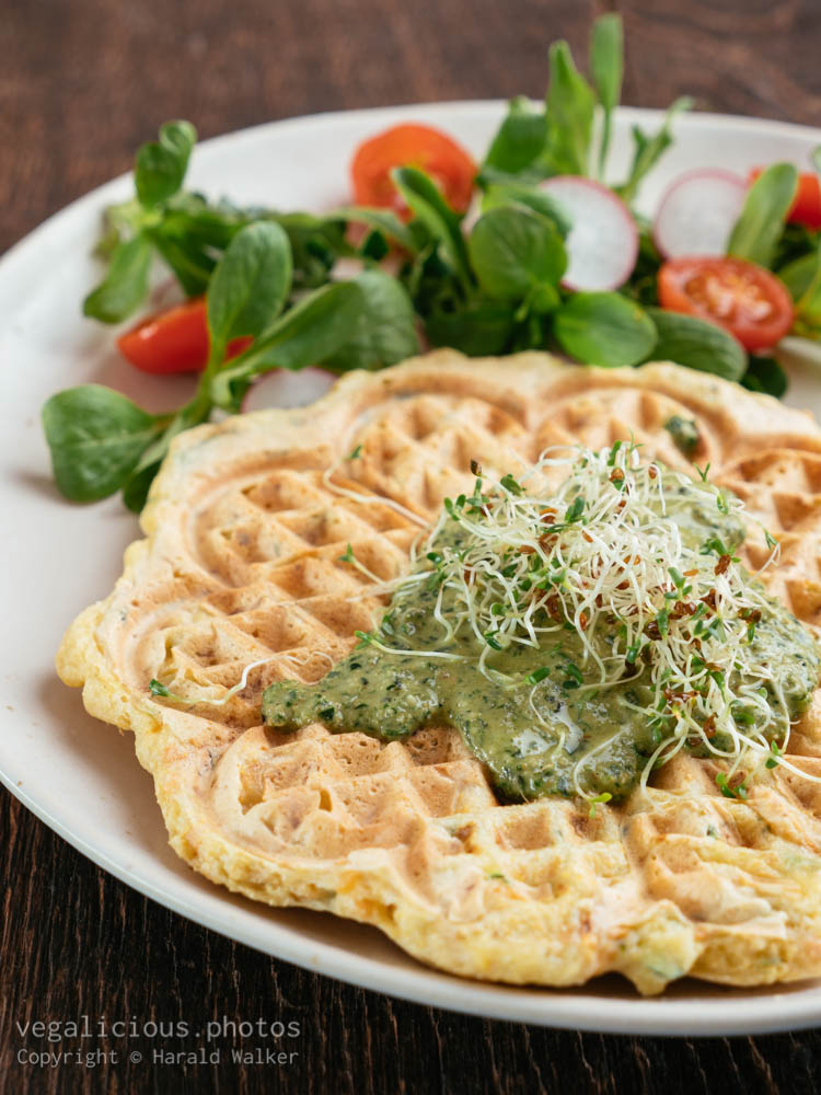 Stock photo of Savory Waffles