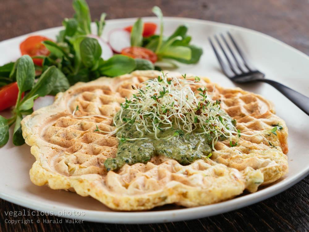 Stock photo of Savory Waffles
