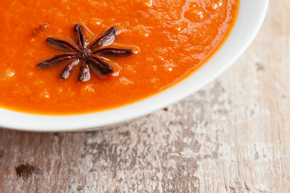 Stock photo of Tomato-Rhubarb Soup