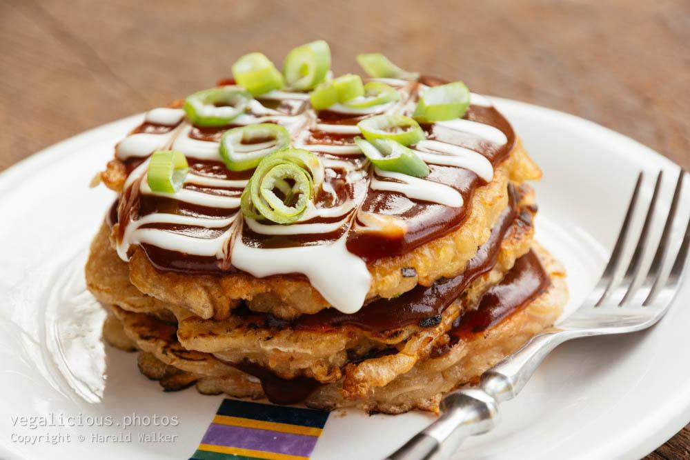 Stock photo of Okonomiyaki – Japanese Cabbage Pacakes