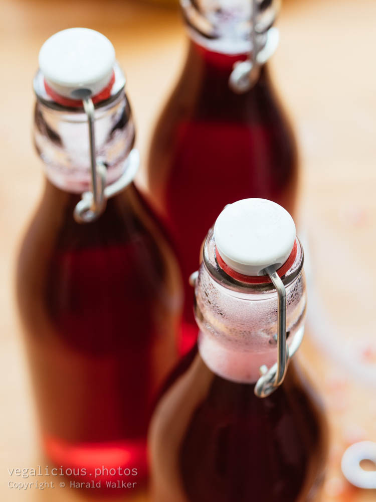 Stock photo of Red currant juice