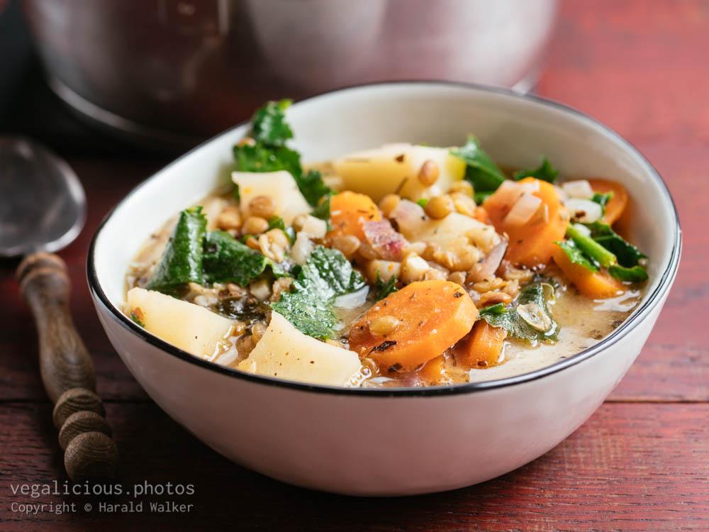 Stock photo of White Bean, Siberian Kale and Potato Stew