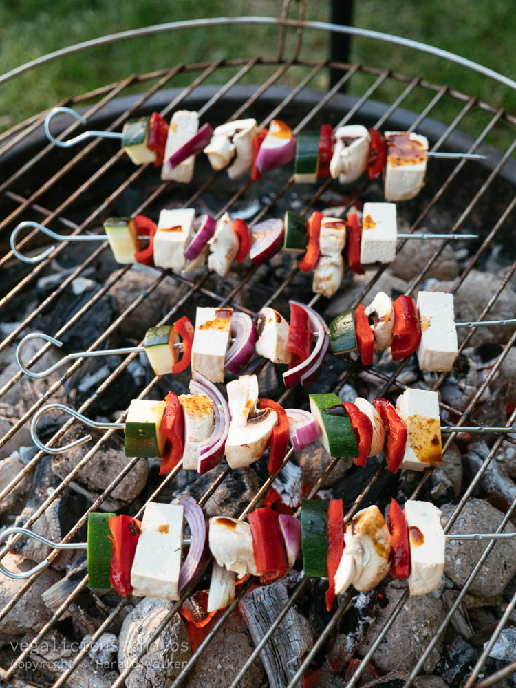 Stock photo of Vegan grilling