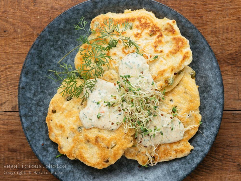 Stock photo of Savory Pancakes