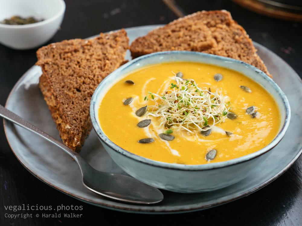 Stock photo of Carrot Lentil Apple Soup